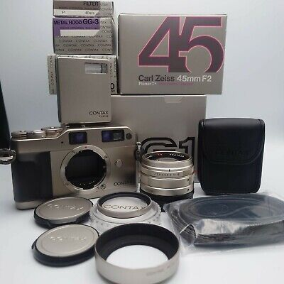 $ CDN1197.52 • Buy All Boxed [N Mint ] Contax G1 Green Label + 45mm F/2 + TLA140 + Strap From JAPAN