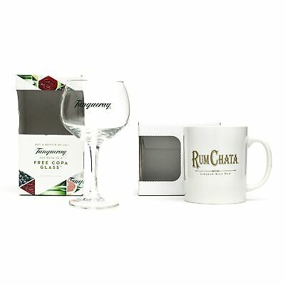 £8.99 • Buy Tanqueray Copa Goblet Balloon Glass Gin Cocktail Wine & Free Gift Rum Chata Mug