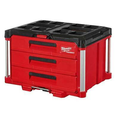 View Details Milwaukee 48-22-8443 PACKOUT 3 Drawer Durable Tool Box W/ 50lbs Capacity • 164.99$