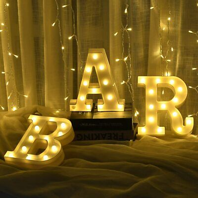 £14.59 • Buy BAR LED Light Up Alphabet Letters Numbers Standing Sign For Love Decor Plaques
