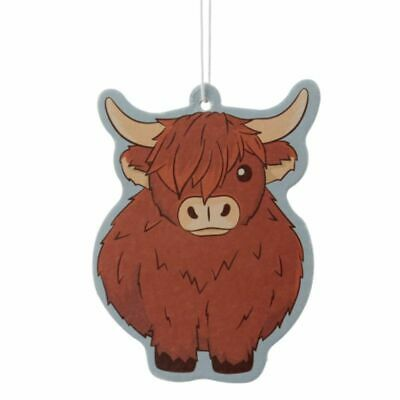 £2.50 • Buy Highland Coo Cow Autumn Leaves Air Freshener Car Home Novelty Gift NEW