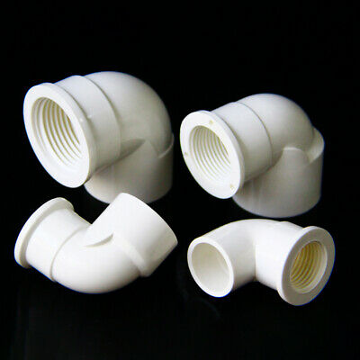 £1.99 • Buy PVC Elbow 90° Water Supply Pipe  Female Threaded Elbow Fittings Adapter Joint