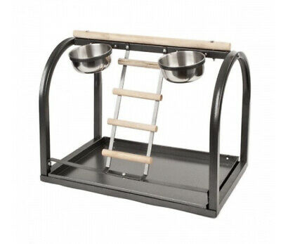 £39.99 • Buy Premium Parrot Table Top Play Stand - Black - African Greys, Amazons Cockatoos
