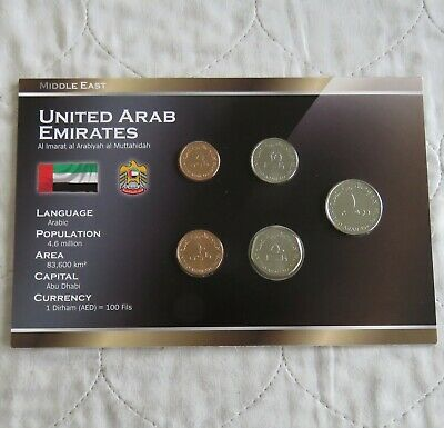 £11.95 • Buy UNITED ARAB EMIRATES 5 COIN UNCIRCULATED TYPE SET - Sealed Pack