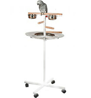 £99.99 • Buy Parrot T-Bar Parrot Play Stand With Steps, Feeders And Tray - White