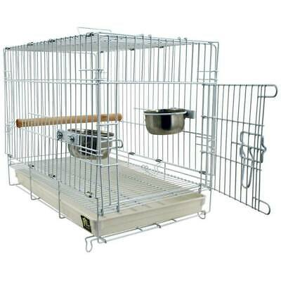 £74.99 • Buy Folding Travel Cage For Parrots And Pet Birds Parakeets Transport Birds Safely