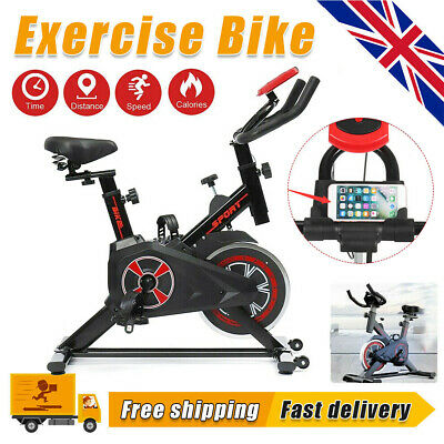 £99.99 • Buy Home Gym Spin Bike Exercise Fitness Bicycle Fitness Cardio Workout Machine