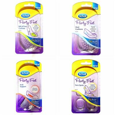 £3.75 • Buy Scholl PARTY FEET Gel Cushioning Pads Insoles/Inserts Heel Ball Arch Foot: Shoes