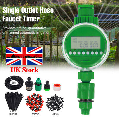 £8.89 • Buy 25M Automatic Drip Irrigation System Kit Plant +Timer Self Watering Garden Hose