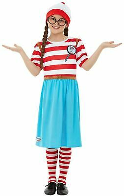 £21.21 • Buy Girls Wheres Wally Wenda Costume Book Day Day Deluxe Kids Fancy Dress Outfit