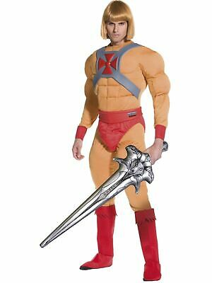 £36.79 • Buy 80s He-Man Masters Of Universe Superhero Fancy Dress Costume Adult Outfit