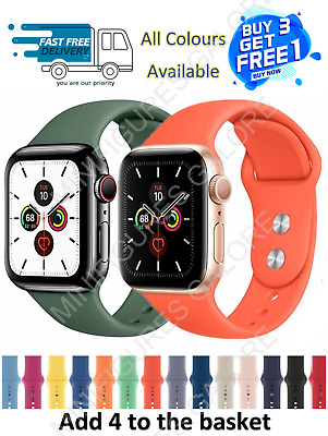 £3.85 • Buy  For Watch Strap Band Series Apple IWatch Sport SILICONE 38/40/42/44mm 6/5/4/SE