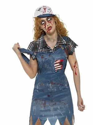 £15.55 • Buy Adult Zombie Hillbilly Costume  Womens Halloween Fancy Dress Ladies Outfit
