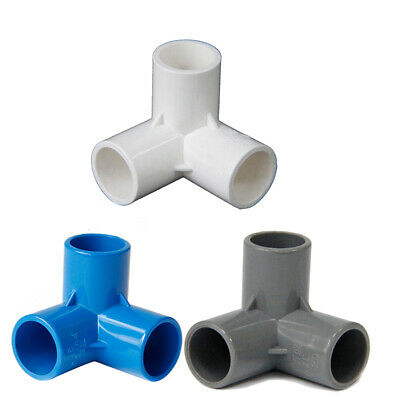 £1.78 • Buy PVC 3-Way Elbow 20mm-50mm ID Pressure Water Pipe Connector Adapter Connector
