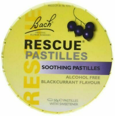£4.95 • Buy Bach RESCUE Remedy Soothing Pastilles Blackcurrant - 50g Soothing Flower Essence