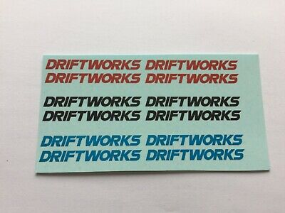 £2.60 • Buy 1/18 Scale Modified Tuning SPONSOR DRIFTWORKS Waterslide Decals (clear Backing)