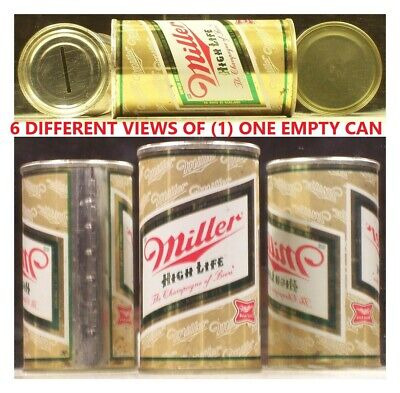 $2.95 • Buy Miller High Life Beer 12 Oz S/S ( Coin Bank Can )  Milwaukee Wisconsin 54B