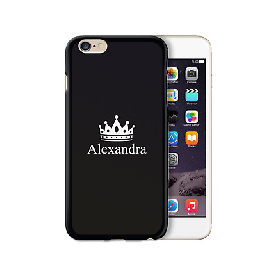 AU15.66 • Buy Personalised Initial Phone Case, Crown Name On Black Silicone TPU Soft Cover