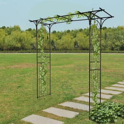£59.95 • Buy Metal Garden Arch Heavy Duty Strong Rose Climbing Plants Archway Decorative UK