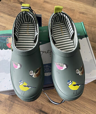 £44.95 • Buy Joules Women's Pop On Printed Welly Clog Size 4 Adults -green Birds 🦢🦅