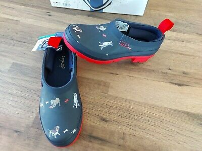 £44.95 • Buy Joules Women's Pop On Printed Welly Clog Size 6 Adults - Navy Dog 🐕