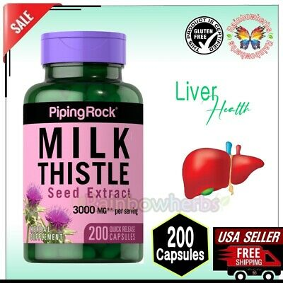 $18.04 • Buy Piping Rock MILK THISTLE Seed Extract 3000mg Liver Health Supplement 200 Capsule