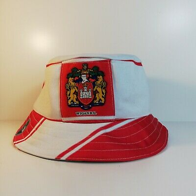 £28.95 • Buy WIGAN (Warriors) Rugby League Bucket Hat From Upcycled Official Shirt