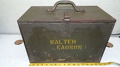 $69.99 • Buy 4 Drawer Antique Metal Tool Box Vintage Condition Four Drawer Toolbox Machinist