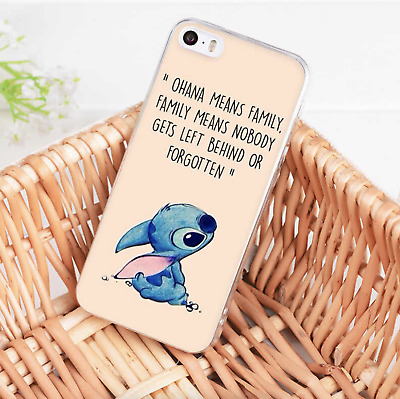 £3.50 • Buy Disney Lilo And Stitch Quote Ohana Case Cover For IPhone Samsung Huawei Google