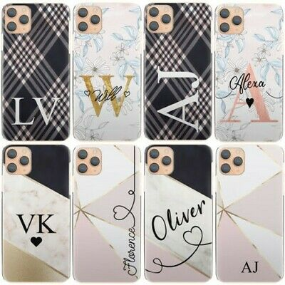 AU15.85 • Buy Personalised Initial Phone Case, With Name, Flower Marble Hard Cover For Google