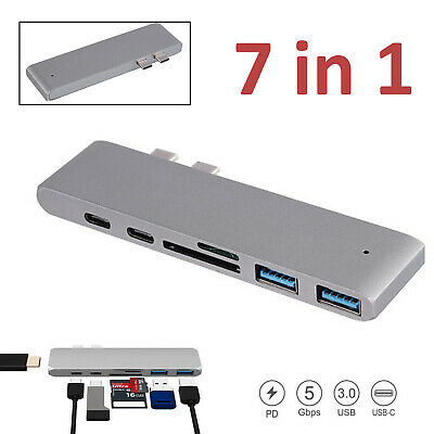 AU31.85 • Buy 7 In 1 USB Type-C C Hub Output 4K HDMI Card Reader Adapter For MacBook Pro