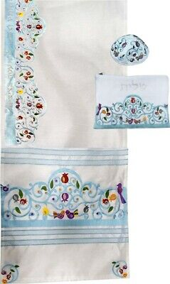 £58.18 • Buy Tallit For Women Traditional Jewish Prayer Shawl Embroidered Include Bag & Kippa