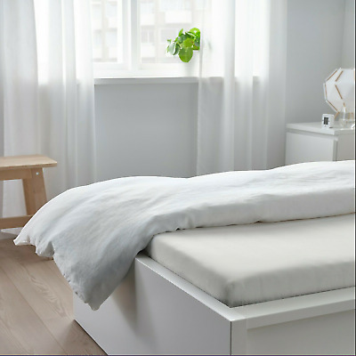 £8.66 • Buy IKEA TAGGVALLMO Single Fitted Sheet 90x190cm [White]