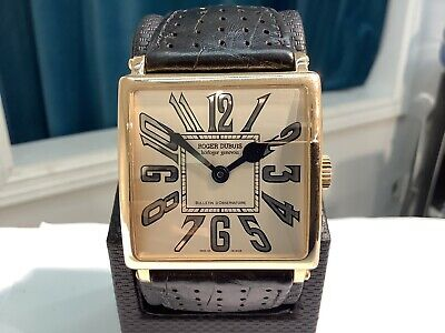£9402.70 • Buy ROGER DUBUIS Ref. G435703 BULLETIN D'OBSERVATOIRE 18K R/Gold Automatic Watch!