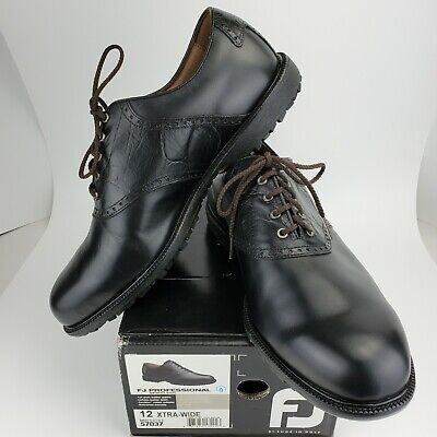 $39.95 • Buy FootJoy Professional Spikeless Golf Shoes Black Oxford Lace Men's 12 EE 57037