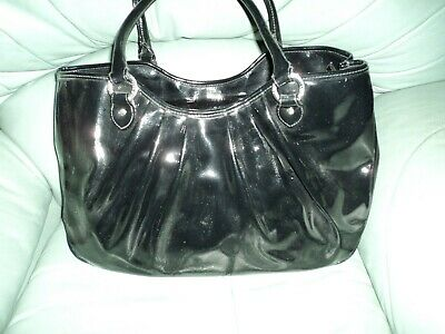 £80 • Buy Lulu Guinness Large Black Pleated Wanda Bag - In Excellent Clean Condition