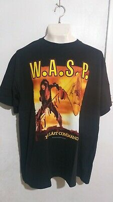 £9.43 • Buy WASP Last Command T Shirt Heavy Metal Twisted Sister Lizzy Borden