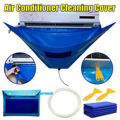 AU21.96 • Buy Air Conditioner Cleaning Cover Bag Kit Waterproof Dust Protection S3 G6
