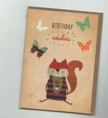 £1.79 • Buy  Birthday Wishes  Bramble Scratch  Card And Envelope 19 Cm X 14 Cm
