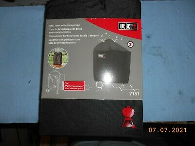 $ CDN41.53 • Buy WEBER 7151 Grill Cover With Storage Bag, Fits Performers With Folding Table