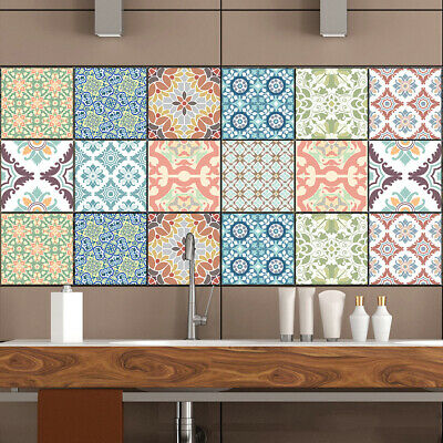 £1.59 • Buy 10x Peel And Stick Tiles Sticker Kitchen Bathroom Self-Adhesive Wall Tile Decals