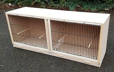 £52 • Buy Double Canary Breeding Cage  38  X 15 X 12  With BLACK FRONTS