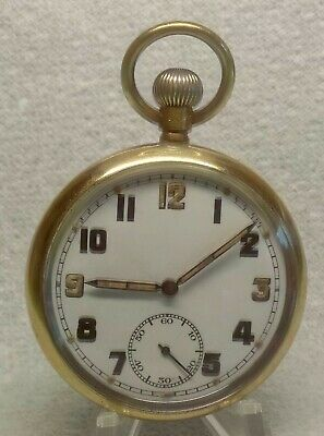 £88 • Buy WW2 BRITISH MILITARY GS/TP RECORD WATCH Co. Cal 433 POCKET WATCH FULLY SERVICED