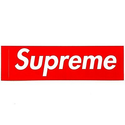 $ CDN11.32 • Buy Authentic SUPREME Big Red Stickers Pack Of 5 - US Seller Fast Shipping