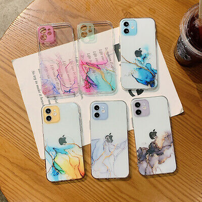 AU9.27 • Buy For Apple IPhone 12 11 Pro Max XS XR 7/8/SE2 Marble TPU Shockproof Phone Case