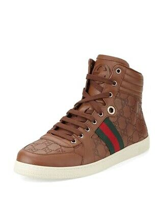 AU600 • Buy Gucci Guccissima High Hi Top Leather Sneakers Size Us10 Authentic Bnib