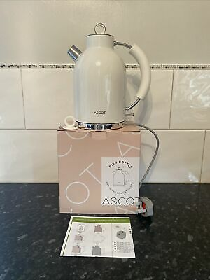 £19.80 • Buy ASCOT Kettle-Electric-Cordless-Fast-Boil Stainless Steel Filter New Boxed White