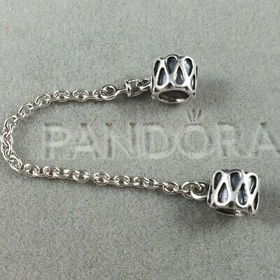 AU35 • Buy Authentic Retired Pandora Raindrop Zig Zag Safety Chain Sterling Silver #790315