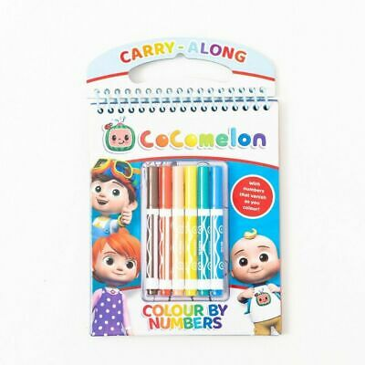 £5.95 • Buy Cocomelon Colour By Numbers Set Carry Along Children's Colouring Activity & Pens