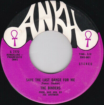 £9.99 • Buy Soul / Funk--The Binders--Save The Last Dance For Me / You Don't Have To Cry Any